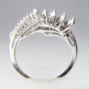 Platinum and Diamond Waterfall Ring