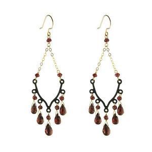 Gold Filled Grace Gemstone Dangle Earrings