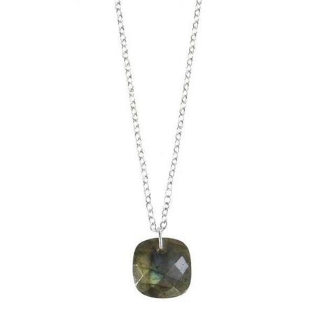 Dazzling Faceted Gemstone Cushion Necklace (18