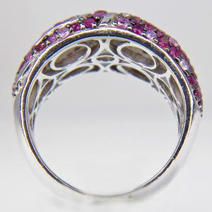 Sterling Silver Ruby and Pink Sapphire Band
