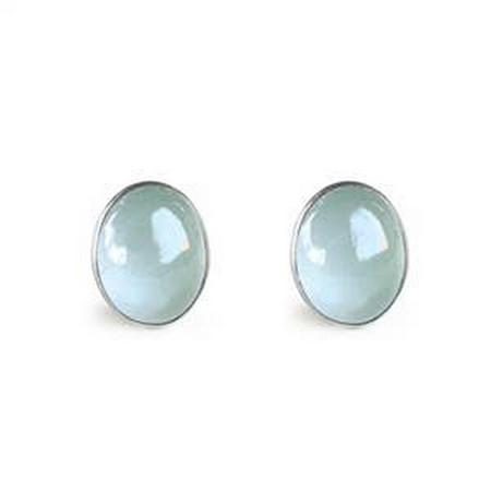 Tiny Cabochon Stud Earrings