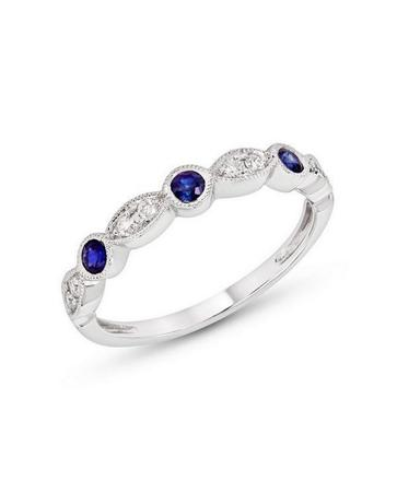 Stackable Blue Sapphire Band