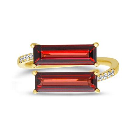Baguette East to West Duo Ring
