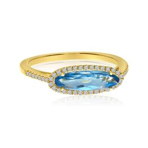 Elongated Oval Ring