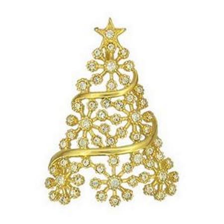 Crystal Christmas Tree Pin