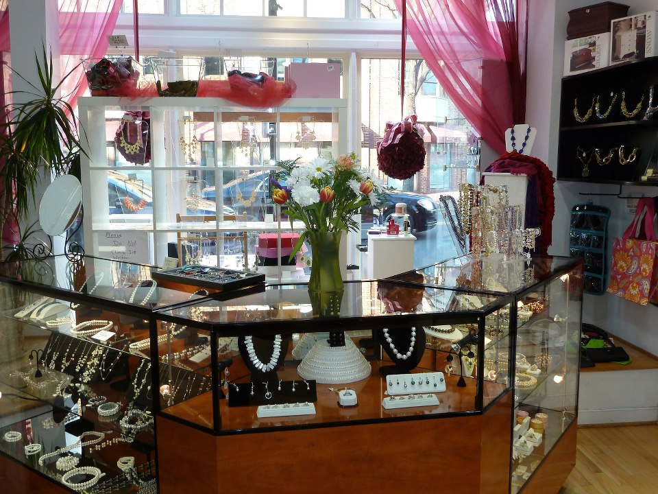 Fine Jewelry and gifts showcase in our Old Town Alexandria Store